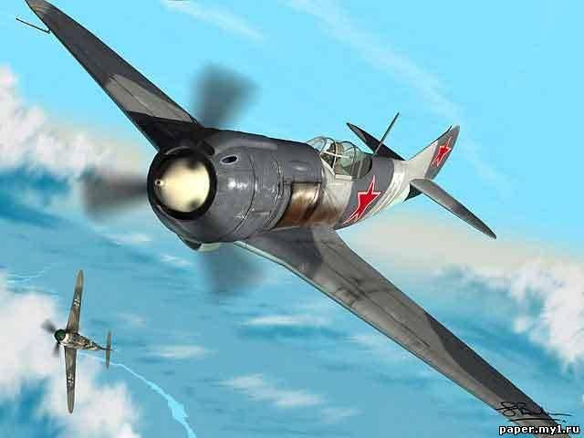 Модель самолёта - истребителя