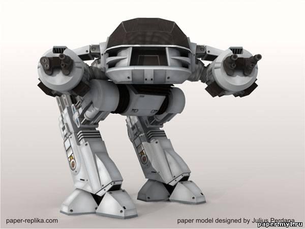 Модель из бумаги робота из